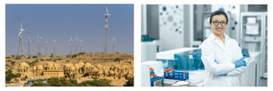 Wind Turbines India & Female Scientist